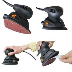 WEN 1 Amp Electric Detailing Palm Sander & Hook-and-Loop Bas