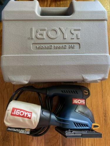 1 4 sheet palm sander with collection