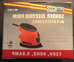 """Chicago Electric Palm Sander With 4 Accessories - NEW - 4""""X"""